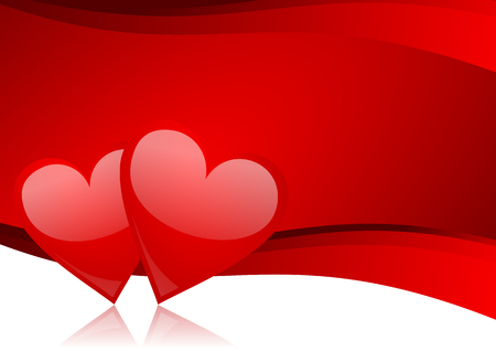 article icon: Valentines vector greeting card with heart - abstract background