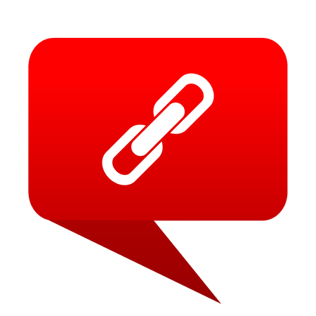 link bubble red icon