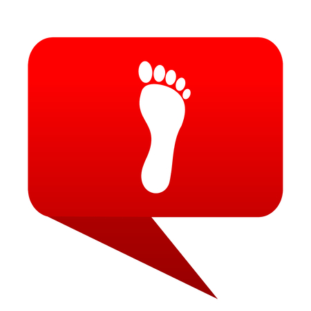 toe tag: foot bubble red icon Stock Photo