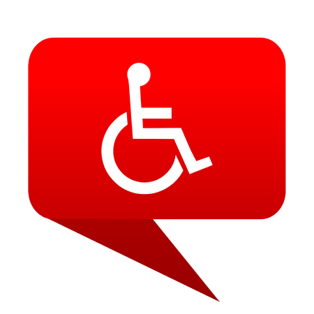 wheelchair bubble red icon
