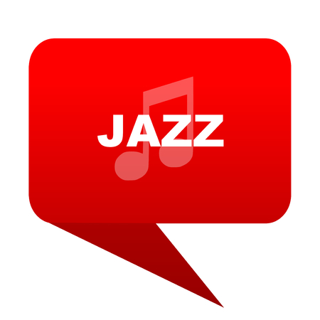 jazz music bubble red icon