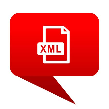 xml: xml file bubble red icon.