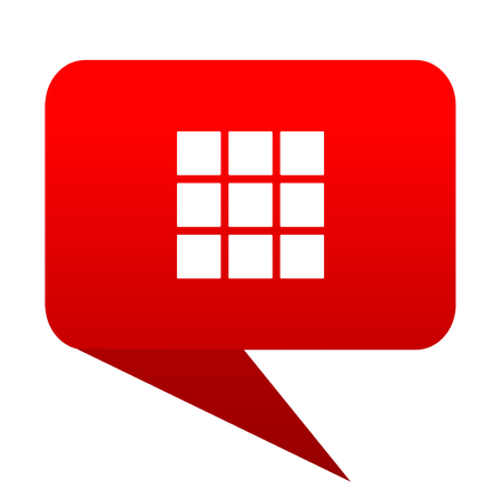 thumbnails grid bubble red icon