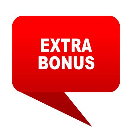 discounting: extra bonus bubble red icon