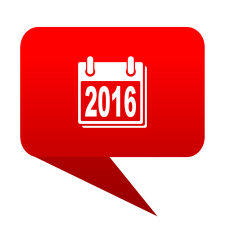 next year: new year 2016 bubble red icon