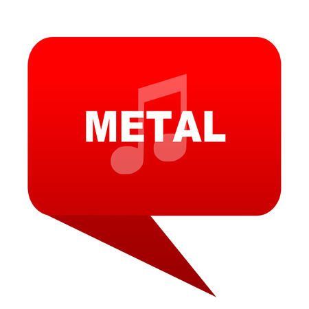 metal music bubble red icon