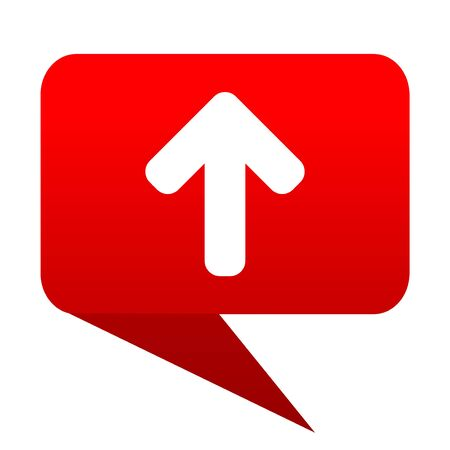 Up arrow bubble red icon Stock Photo