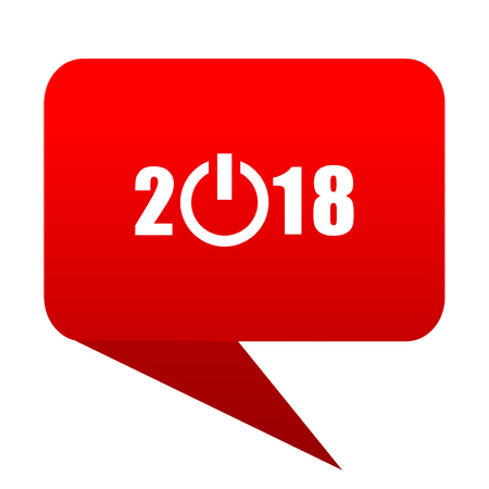 ner: ner year 2018 bubble red icon