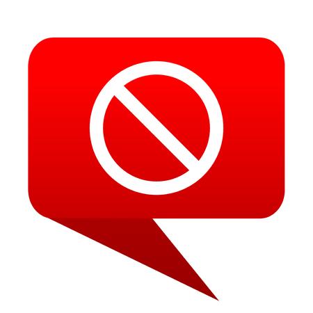 access denied: access denied bubble red icon
