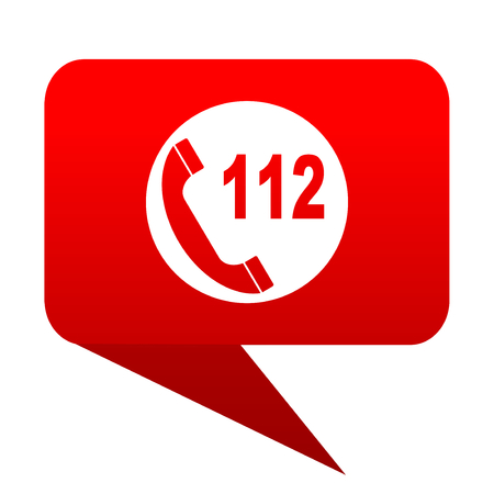 emergency call: emergency call bubble red icon