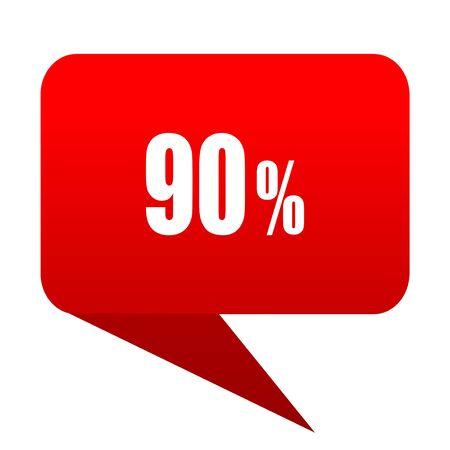 90 percent bubble red icon