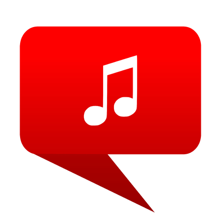 mp3 player: music bubble red icon