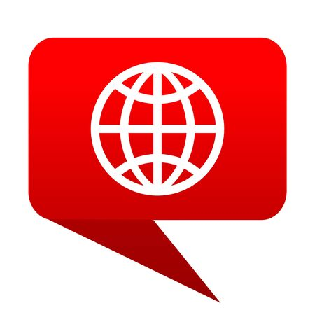 parallel world: Earth bubble red icon