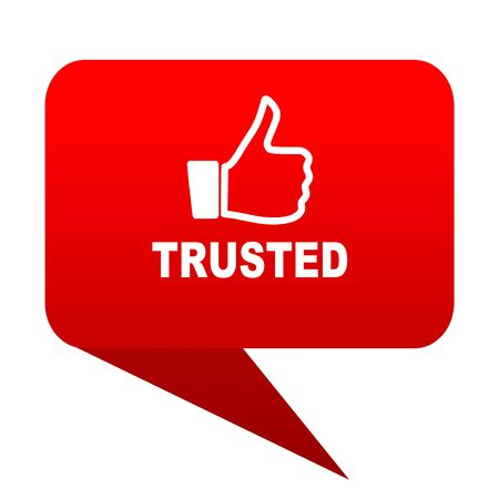 trusted: trusted bubble red icon