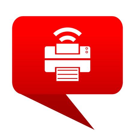 printer bubble red icon