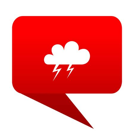 storm bubble red icon