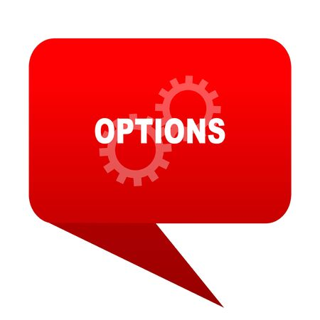 options bubble red icon Stock Photo