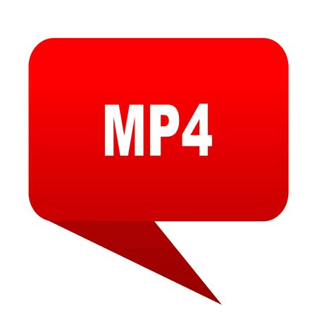 mp4 bubble red icon