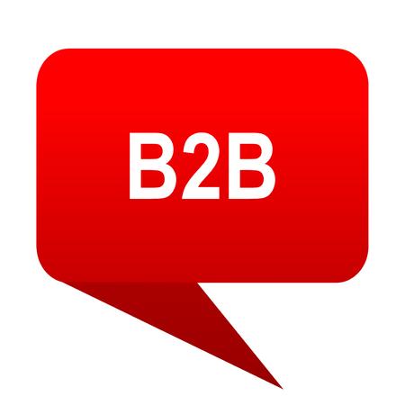 b2b: b2b bubble red icon
