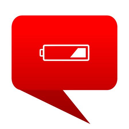 bubble level: battery bubble red icon
