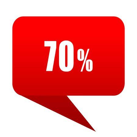 70 percent bubble red icon