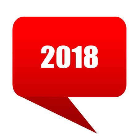 next year: ner year 2018 bubble red icon