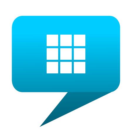 thumbnails: thumbnails grid blue bubble icon