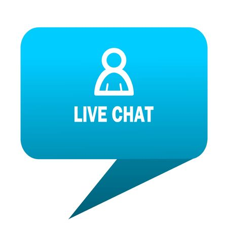 Chatter: live chat blue bubble icon