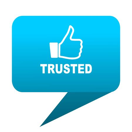 trusted: trusted blue bubble icon