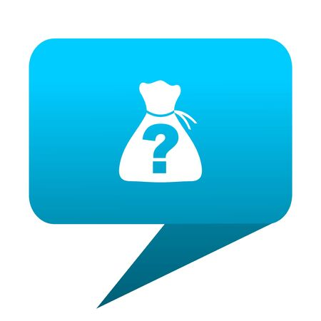 riddle: riddle blue bubble icon Stock Photo