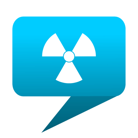 radiation blue bubble icon