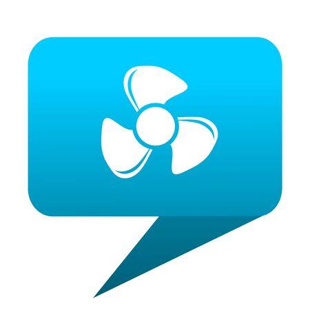 fan blue bubble icon