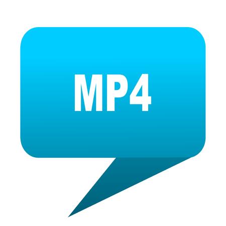 mp4: mp4 blue bubble icon Stock Photo