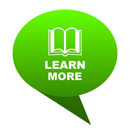 learn more green bubble web icon
