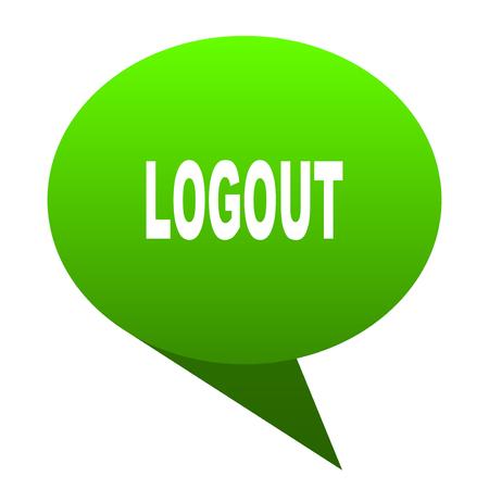 logout green bubble web icon