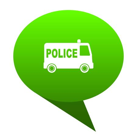arrested criminal: police green bubble web icon