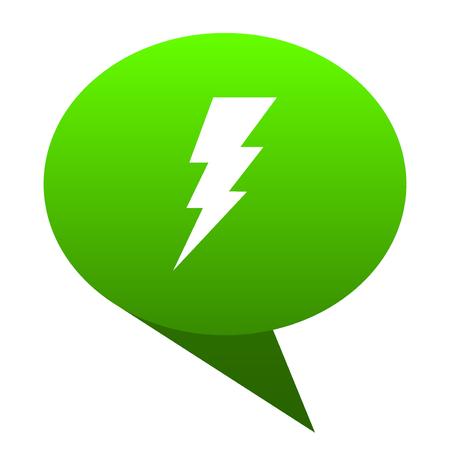 bolt green bubble web icon
