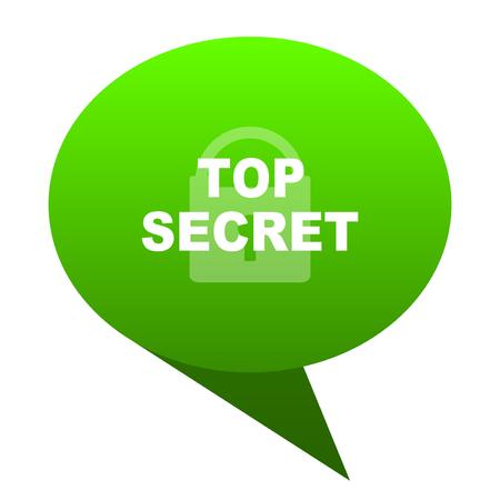top seret green bubble web icon Stock Photo