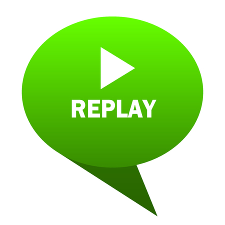 eject icon: replay green bubble web icon