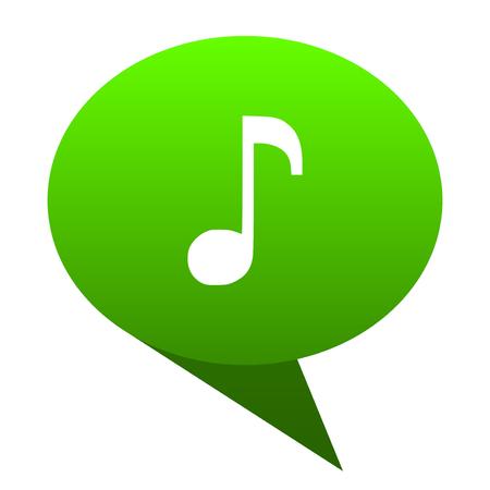 music green bubble web icon Stock Photo