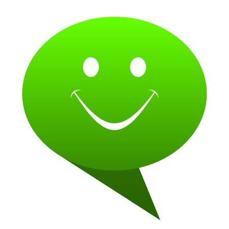 new yea: smile green bubble web icon