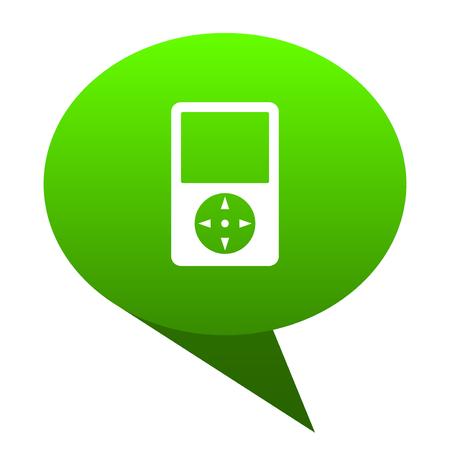 Multimedia player green bubble web icon