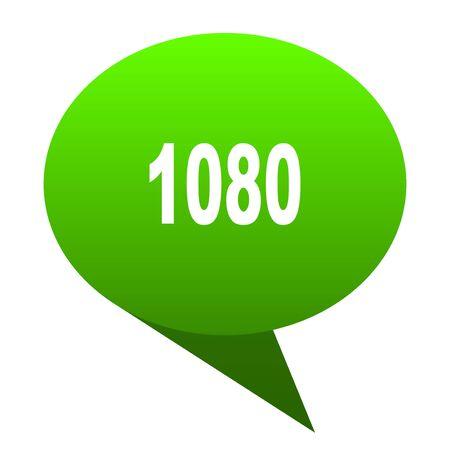 1080 green bubble web icon Stock Photo