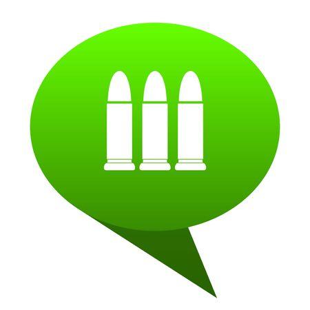 ammunition green bubble web icon