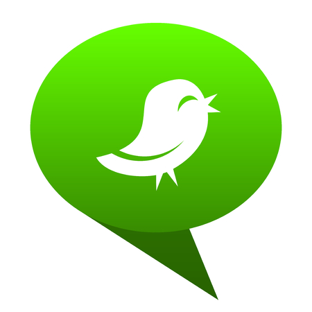 twitter green bubble web icon Stock Photo