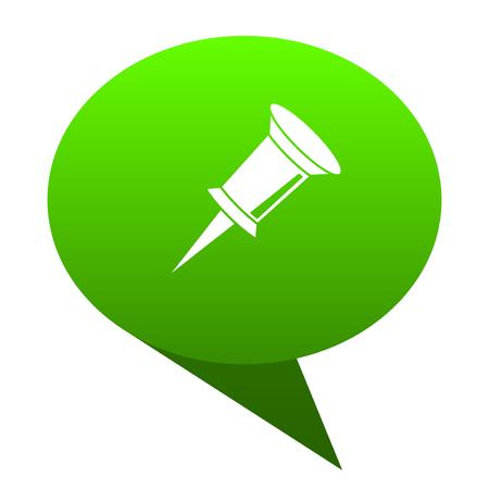pin green bubble web icon