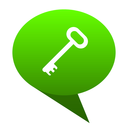 key green bubble web icon