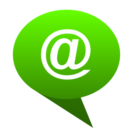email green bubble web icon