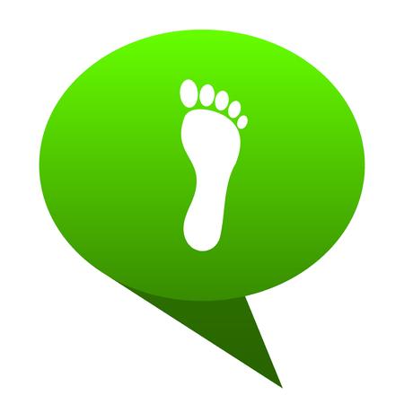 toe tag: foot green bubble web icon