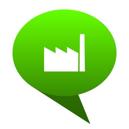 factory green bubble web icon Stock Photo
